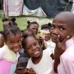 Haitian children are happy