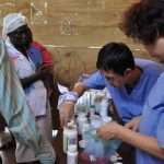 Jesus Medical's staff provide medicine to Haiti people